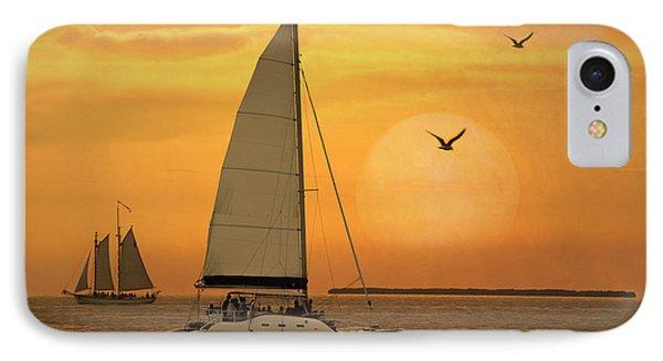 Sunset Sail IPhone Case by Juli Scalzi