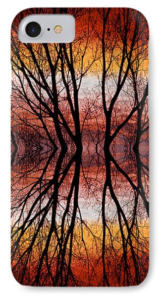 Sunset Tree Silhouette Abstract 2 Phone Case by James BO  Insogna