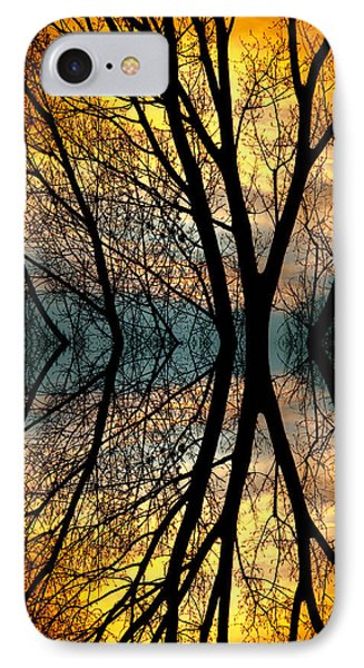 Sunset Tree Silhouette Abstract 3 Phone Case by James BO  Insogna