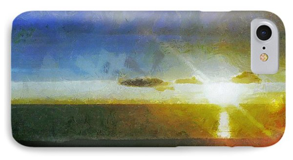 Sunset Under The Clouds Phone Case by Jeff Kolker