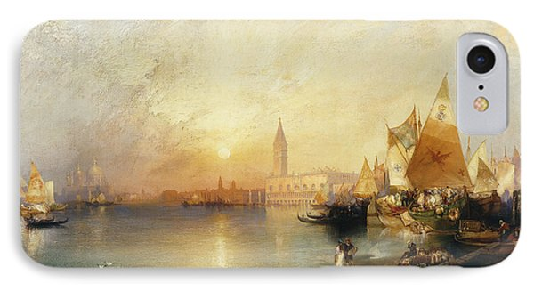 Sunset Venice IPhone Case by Thomas Moran