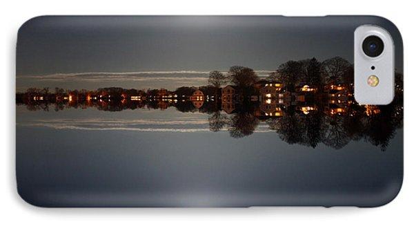 super moon night   Connecticut  IPhone Case by Mark Ashkenazi