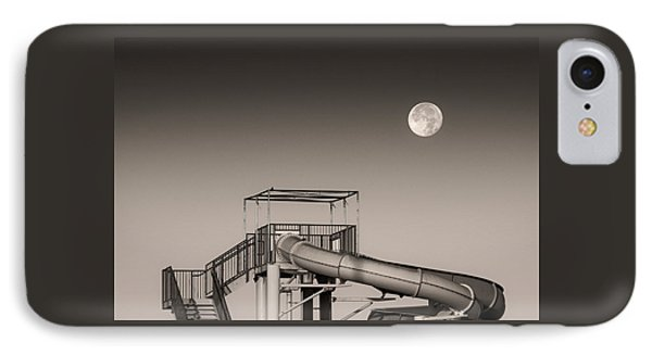 Super Slider Moon IPhone Case by Don Spenner