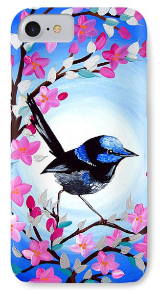 Superb Fairy Wren IPhone Case by Cathy Jacobs