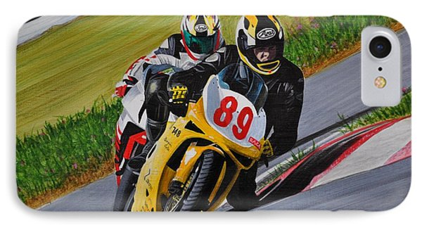 Superbikes Phone Case by Kenneth M  Kirsch