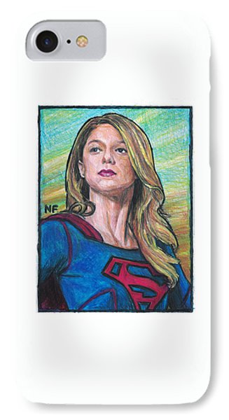 Supergirl As Portrayed By Actress Melissa Benoit IPhone Case by Neil Feigeles