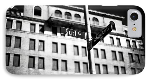 Surf Avenue Coney Island IPhone Case by John Rizzuto