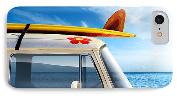 Surf Van IPhone 7 Case by Carlos Caetano