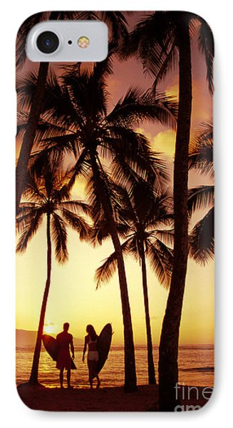 Surfer Couple Phone Case by Dana Edmunds - Printscapes