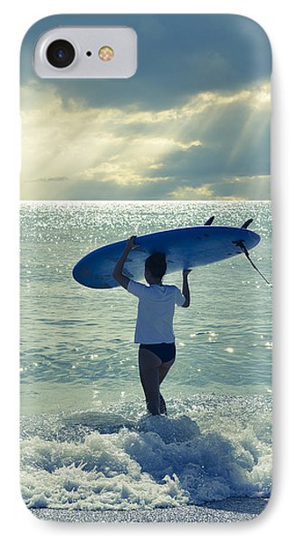 Surfer Girl IPhone Case by Laura Fasulo