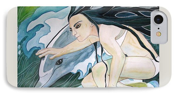 Surfers Phone Case by Kimberly Kirk