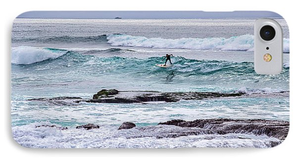 Surfin The Reef IPhone Case by Peter Tellone