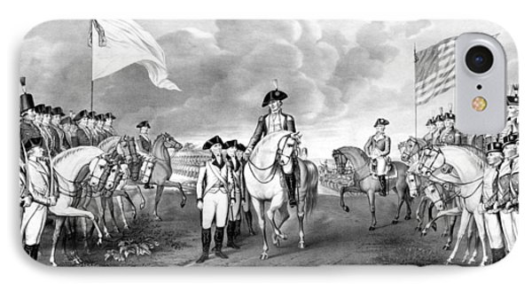 Surrender Of Lord Cornwallis At Yorktown IPhone Case by War Is Hell Store