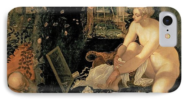 Susanna Bathing Phone Case by Jacopo Robusti Tintoretto