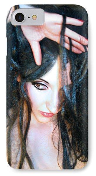 Suspicion - Self Portrait IPhone Case by Jaeda DeWalt