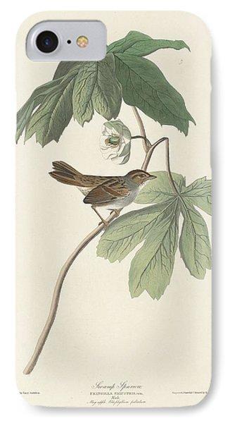 Swamp Sparrow IPhone 7 Case by John James Audubon