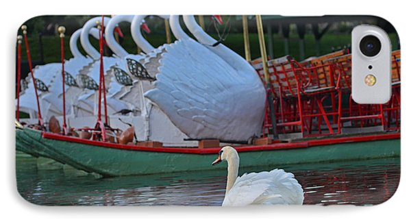 Swan Meeting Up With Some Friends IPhone Case by Toby McGuire