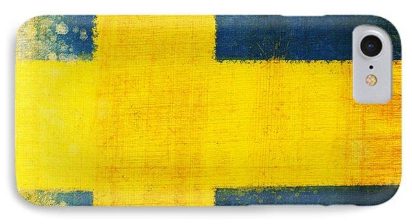 Swedish Flag IPhone Case by Setsiri Silapasuwanchai