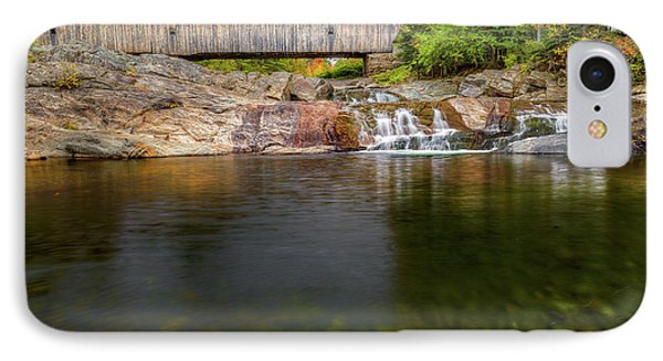 Swiftwater Covered Bridge IPhone Case by Bill Wakeley