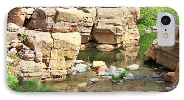 Swimming Hole At Slide Rock Phone Case by Carol Groenen