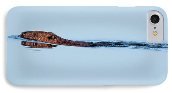 Swimming With The Beaver IPhone 7 Case by Bill Wakeley