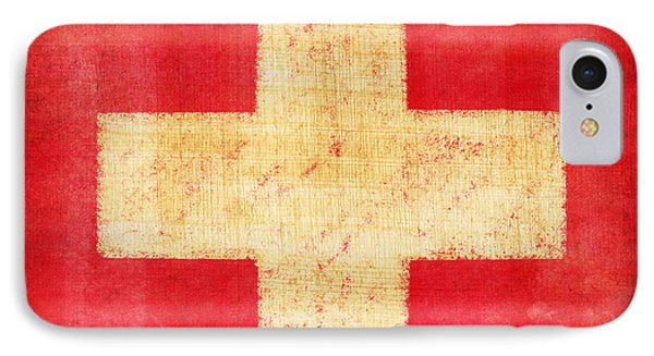 Switzerland Flag IPhone Case by Setsiri Silapasuwanchai