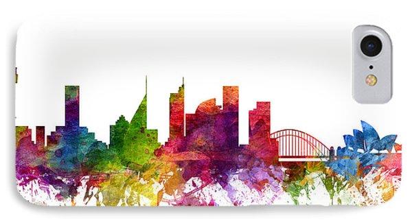 Sydney Australia Cityscape 06 IPhone Case by Aged Pixel