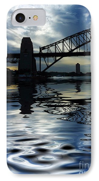 Sydney Harbour Bridge Reflection IPhone Case by Avalon Fine Art Photography
