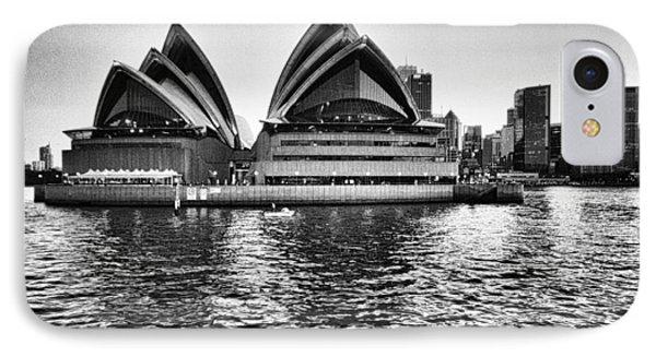Sydney Opera House-black And White Phone Case by Douglas Barnard
