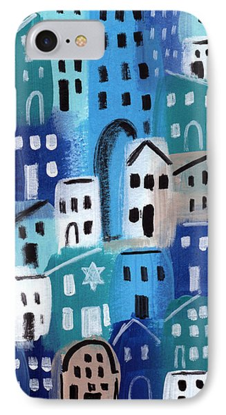Synagogue- City Stories IPhone Case by Linda Woods