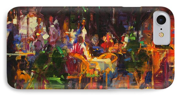 Table At Villefranche IPhone Case by Peter Graham