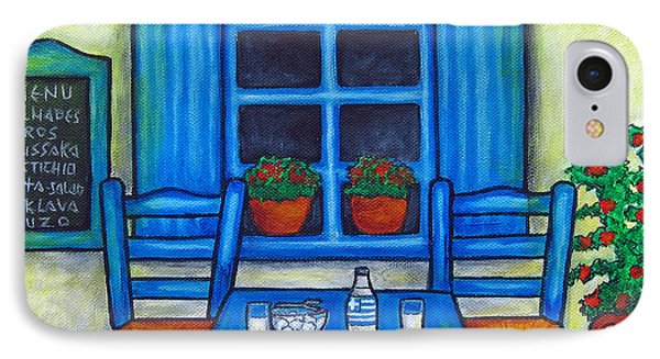 Table For Two In Greece Phone Case by Lisa  Lorenz