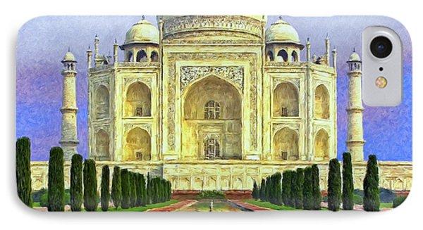 Taj Mahal Morning Phone Case by Dominic Piperata