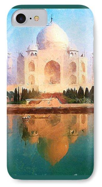 Taj Mahal Reflection IPhone Case by Dan Sproul