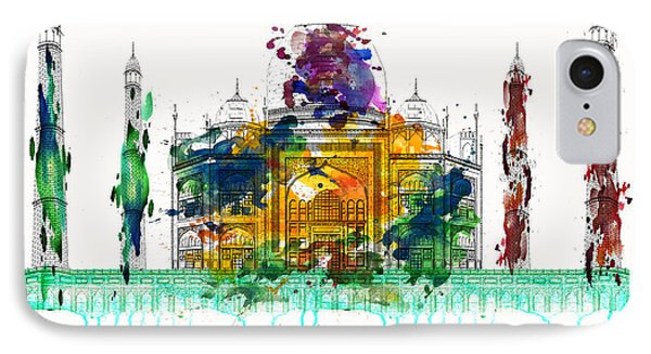 Taj Mahal IPhone Case by Solomon Barroa
