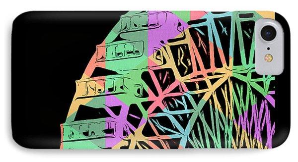 Take A Ride On The Ferris Wheel IPhone Case by Edward Fielding