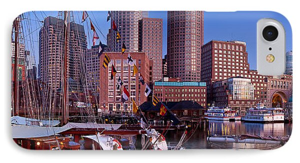 Tall Ship Panorama IPhone Case by Susan Cole Kelly