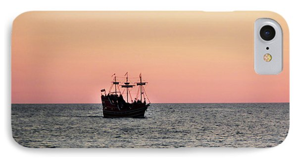 Tampa Bay Sunset 4 Pirate Ship IPhone Case by Marilyn Hunt