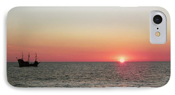 Tampa Bay Sunset 5 Pirate Ship IPhone Case by Marilyn Hunt