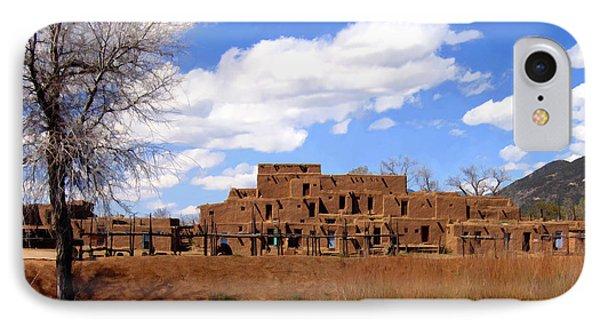 Taos Pueblo Early Spring Phone Case by Kurt Van Wagner