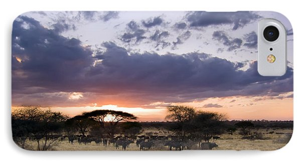 Tarangire Sunset IPhone Case by Adam Romanowicz