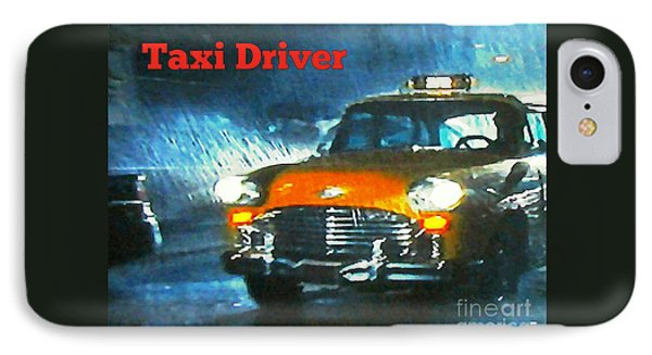 Taxi Driver Poster Two IPhone Case by John Malone