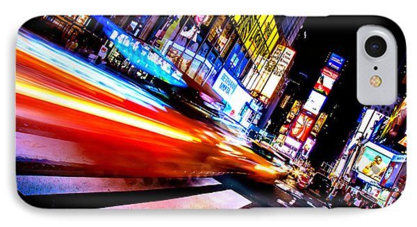 Taxis In Times Square IPhone 7 Case by Az Jackson