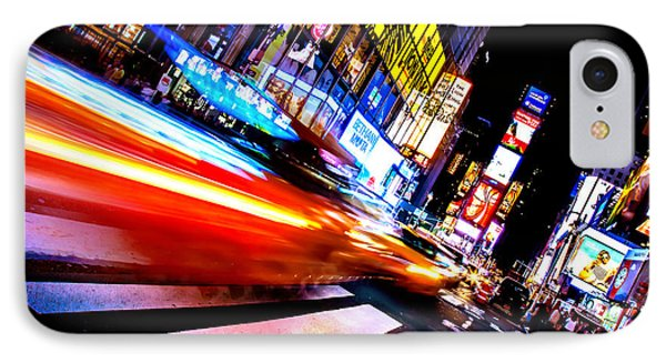 Taxis In Times Square IPhone Case by Az Jackson