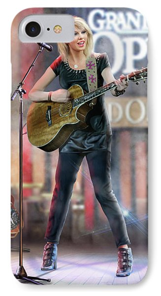 Taylor At The Opry IPhone Case by Don Olea