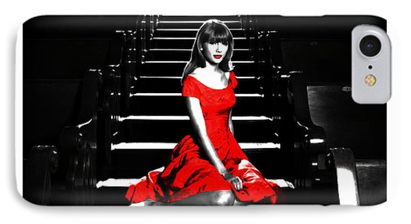 Taylor Swift 8c IPhone Case by Brian Reaves