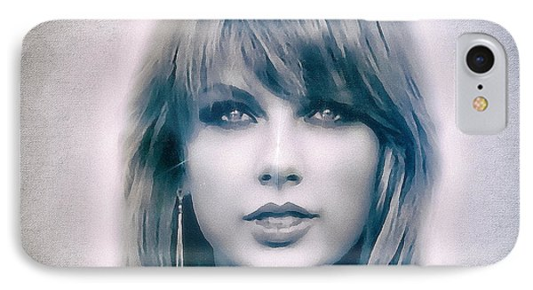 Taylor Swift - Beautiful IPhone 7 Case by Robert Radmore