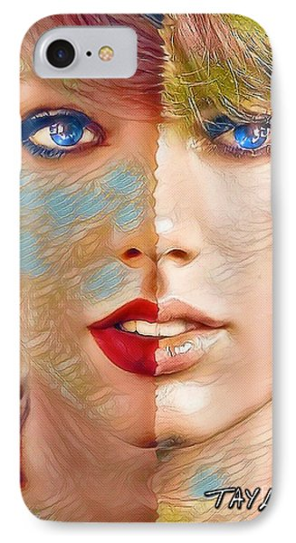 Taylor Swift - Blended Perfection IPhone 7 Case by Robert Radmore