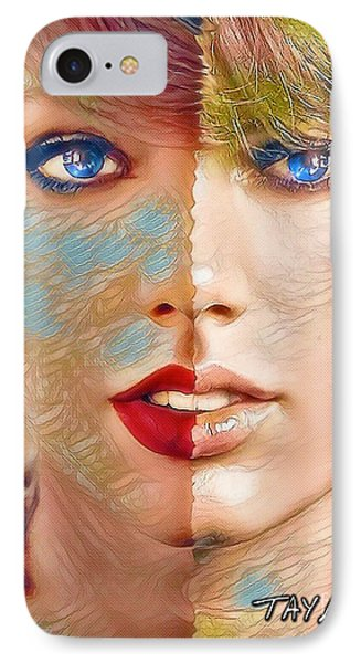Taylor Swift - Blended Perfection IPhone Case by Robert Radmore