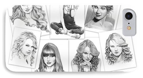 Taylor Swift Collage IPhone Case by Murphy Elliott